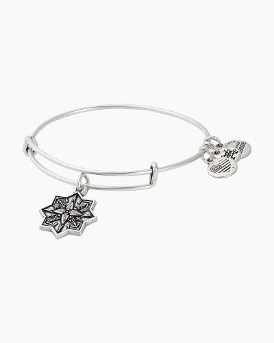 Healing Love II Expandable Wire Charm Bangle in Rafaelian Silver Finish