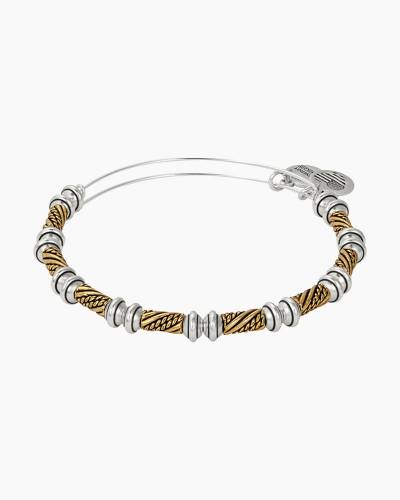 Quill Two Tone Beaded Bangle
