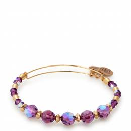 Alex and Ani Sugarplum Beaded Bangle with Swarovski Crystals