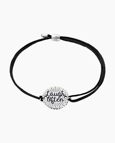 Laugh Often Pull Cord Bracelet