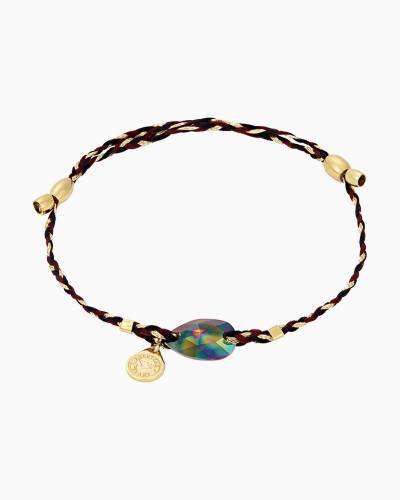 Rainbow Dark Precious Threads Bracelet with Swarovski Crystal
