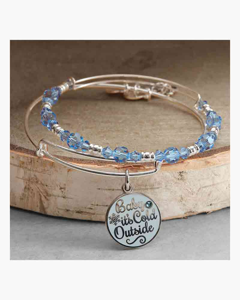 Alex and Ani Baby It's Cold Outside Expandable Bangle Set ...