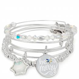 Alex and Ani Be Merry Set of 4