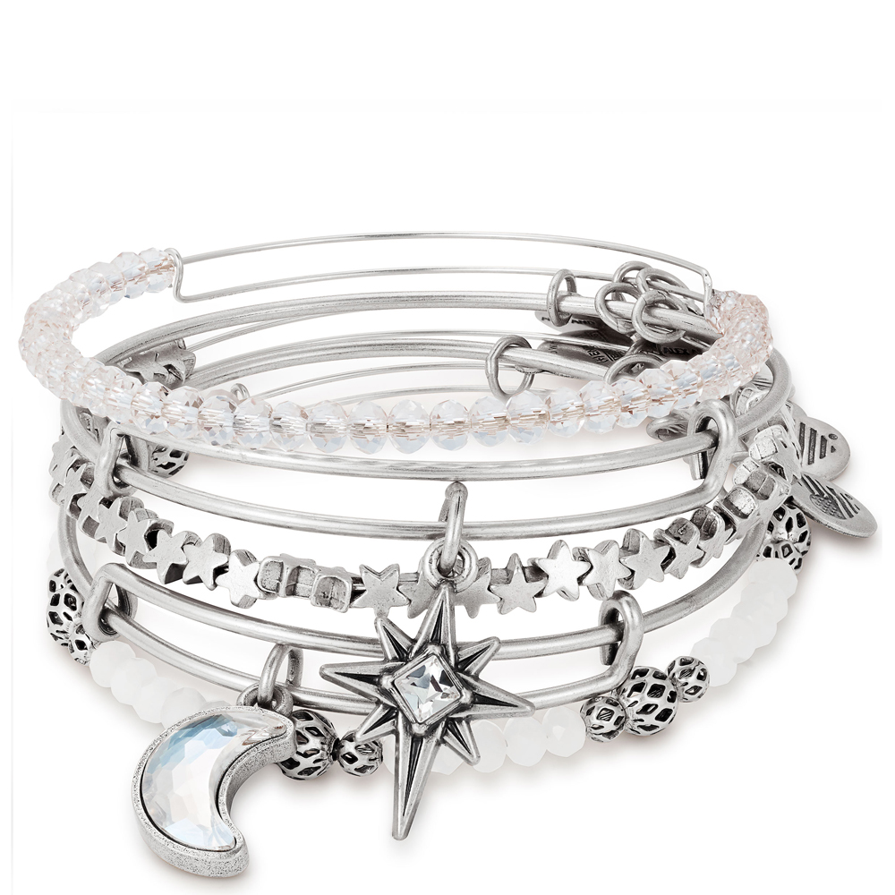 Alex And Ani Moon And North Star Set Of 5 Bangles The