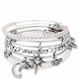 Alex and Ani Moon and North Star Set of 5 Bangles