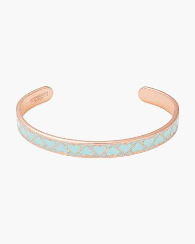 Teal Heart Color Infusion Cuff in Rose Gold Finish