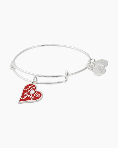 I Love You Color Infusion Charm Bangle | UNICEF in Shiny Silver Finish
