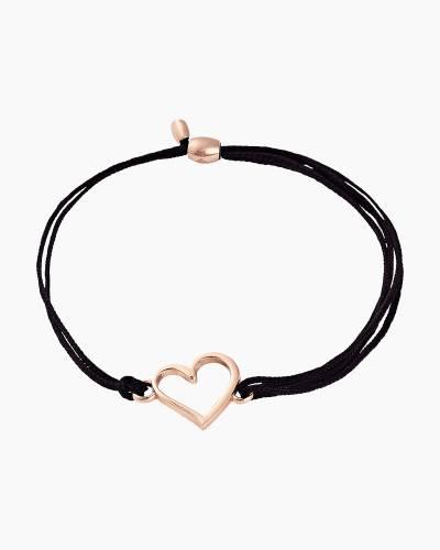Heart Pull Cord Bracelet in Rafaelian Gold Finish