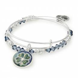Alex and Ani Four Leaf Clover Art Infusion Set | March Exclusive