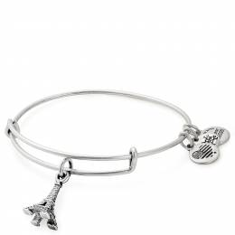Alex and Ani Eiffel Tower Charm Bangle in Rafaelian Silver Finish