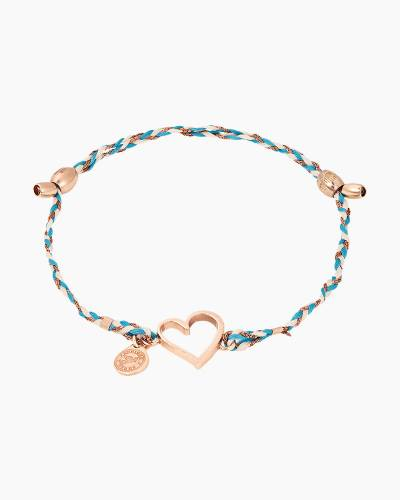 Heart Precious Threads Bracelet in 14kt Rose Gold Finish