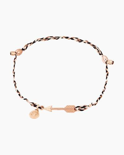 Arrow Precious Threads Bracelet in 14kt Rose Gold Finish