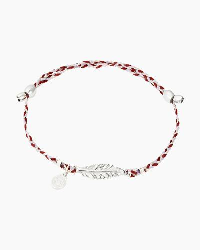 Feather Precious Threads Bracelet in Sterling Silver Finish