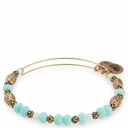 Alex and Ani Robin Valley Beaded Bangle in Rafaelian Gold Finish