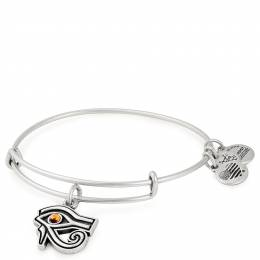 Alex and Ani Eye of Horus Charm Bangle in Rafaelian Silver Finish