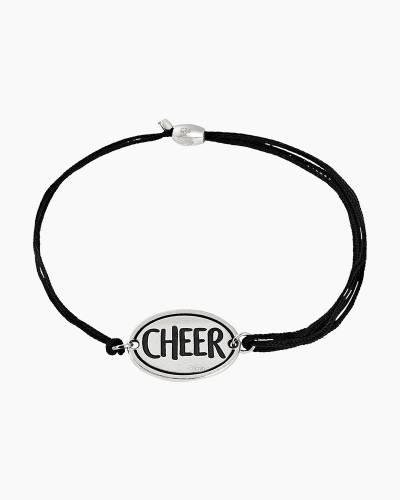 Cheer Pull Cord Bracelet in Sterling Silver