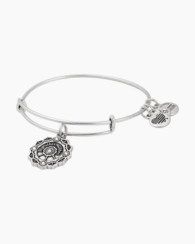 Mother of the Groom Charm Bangle in Rafaelian Silver Finish