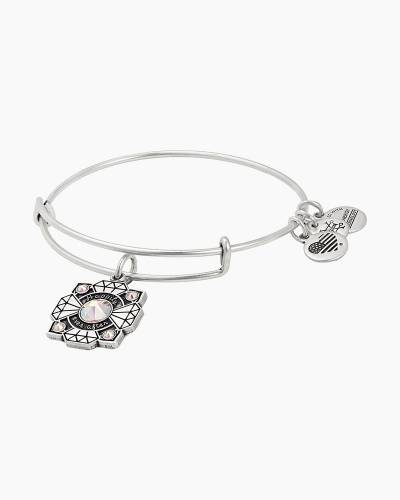 Bride Charm Bangle in Rafaelian Silver Finish