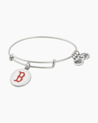 Boston Red Sox Color Infusion Charm Bangle in Rafaelain Silver Finish