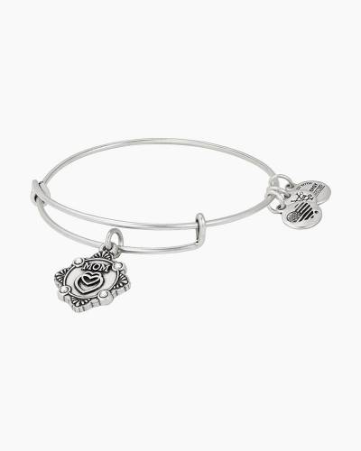 Mom Charm Bangle in Rafaelian Silver Finish