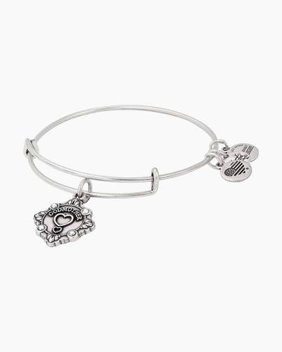 Godmother Charm Bangle in Rafaelian Silver Finish