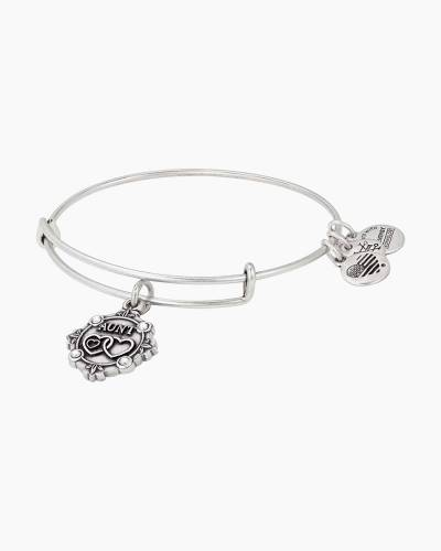 Aunt Charm Bangle in Rafaelian Silver Finish