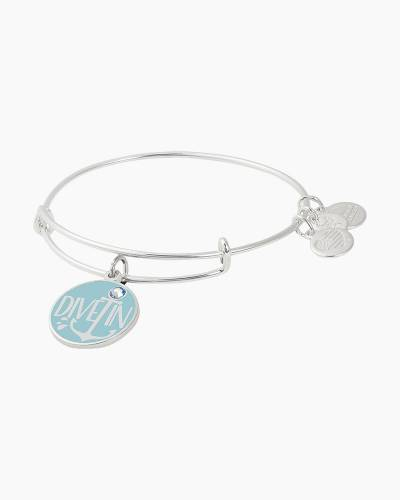 Dive In Charm Bangle in Shiny Silver Finish