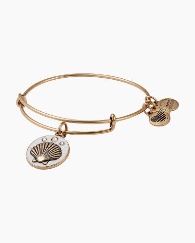 Shell Color Infusion Charm Bangle in Rafaelian Gold Finish
