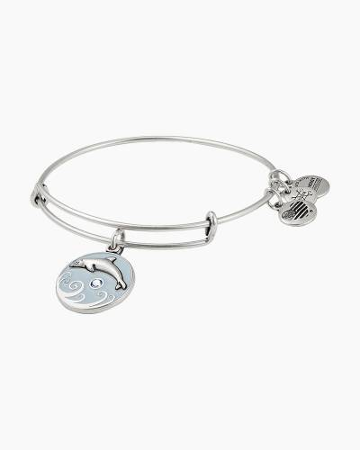 Dolphin Color Infusion Charm Bangle in Rafaelian Silver Finish