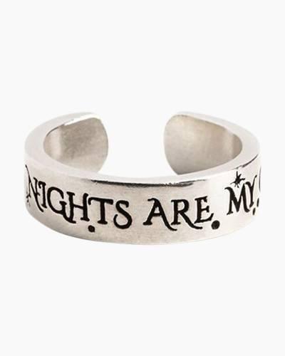 Wild Nights Are My Glory Adjustable Ring