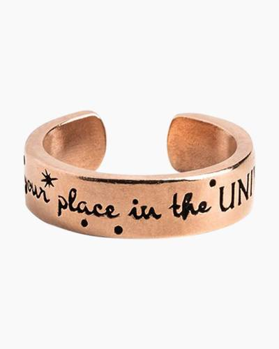 Find Your Place in the Universe Adjustable Ring