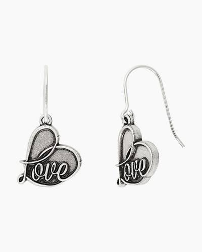 Love Hook Earrings in Rafaelian Silver Finish
