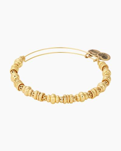 Spellbound Beaded Bangle in Shinygold Finish