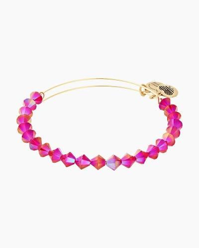 Swarovski Crystals Berry Bangle in Shiny Gold Finish