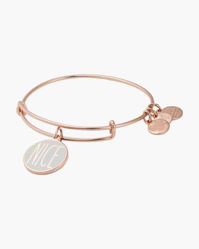 Naughty Or Nice Bangle in Shiny Rose Gold Finish
