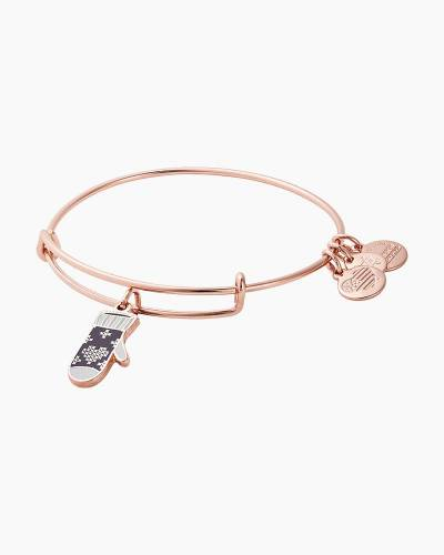 Mitten Bangle in Shiny Rose Gold Finish