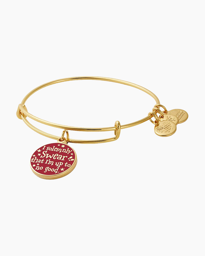 98cd919cf ALEX AND ANI Harry Potter Mischief Managed Charm Bangle in Shiny Gold | The  Paper Store