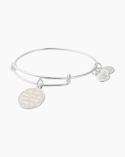 Harry Potter The Ones That Love Us Charm Bangle in Shiny Silver Finish