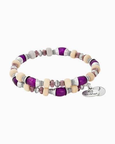 Violet Grove Beaded Wrap Bracelet