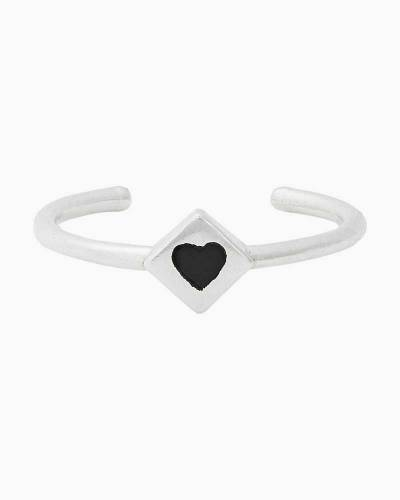 Heart Adjustable Ring in Sterling Silver