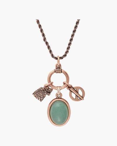 Game of Thrones Sansa Stark Adjustable Trio Necklace in Rafaelian Rose Gold Finish