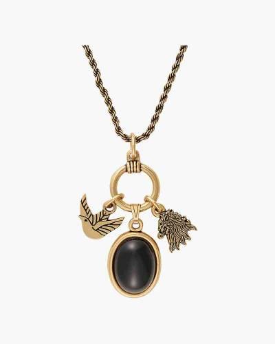 Game of Thrones Lannister Adjustable Trio Necklace in Rafaelian Gold