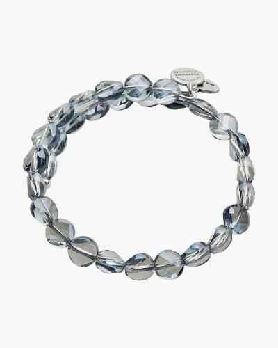 Cloud Luminous Beaded Wrap Bracelet in Rafaelian Silver Finish