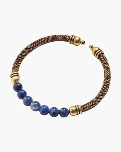 Sodalite Gemstone Mesh Accent Cuff in Rafaelian Gold