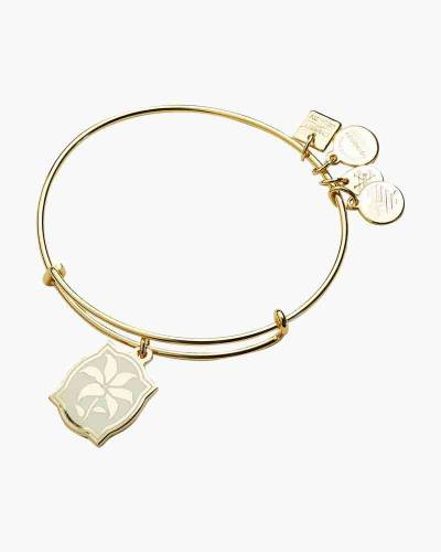 Color Infusion Lily Charm Bangle Shiny Gold