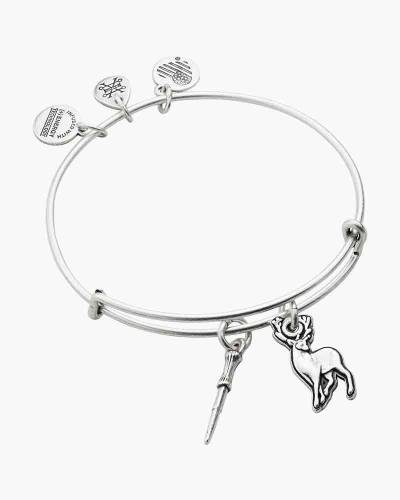Harry Potter Wand and Patronus Duo Charm Bangle in Rafaelian Silver Finish