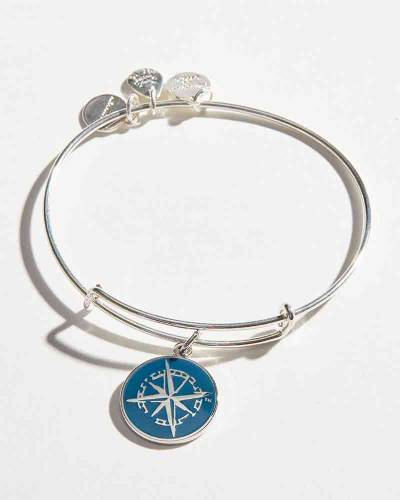 Exclusive Northern Original Expandable Charm Bangle in Shiny Silver Finish