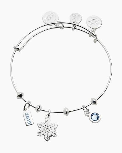 Snowflake Trio Charm Expandable Wire Bangle