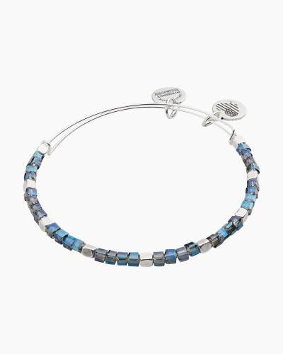 Twilight Balance Bead Bangle in Rafaelian Silver Finish