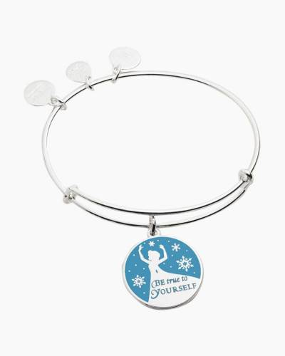 Disney Princess Elsa Be True to Yourself Charm Bangle in Shiny Silver